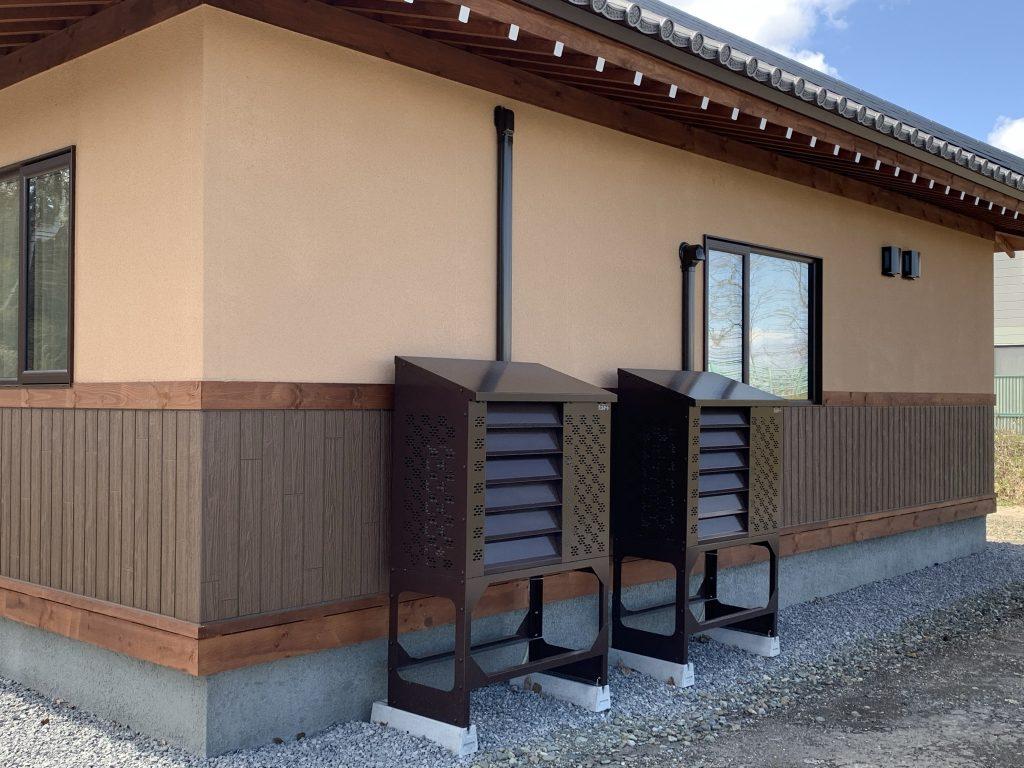 和をモチーフの建物に設置事例